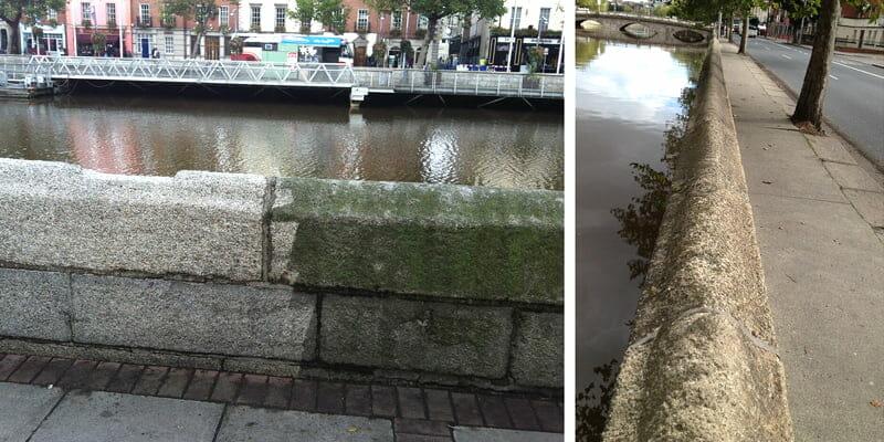 cleaning Dublin's quay walls P Mac