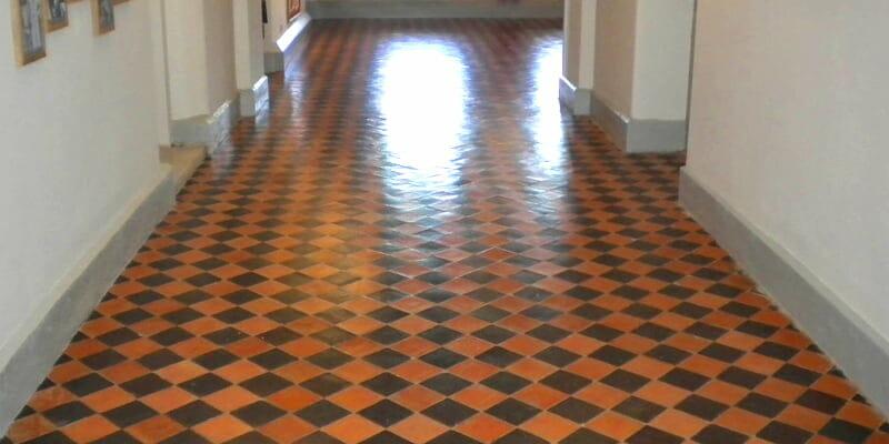 Quarry tile restoration Russborough House P Mac
