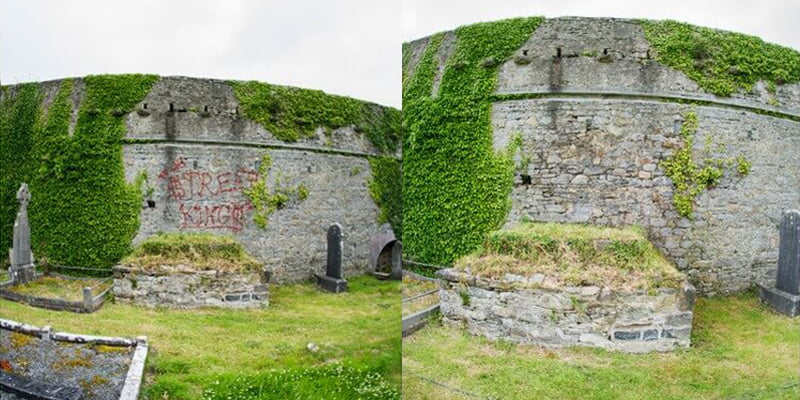 Graffiti removal Kilcolman Abbey P Mac Dublin