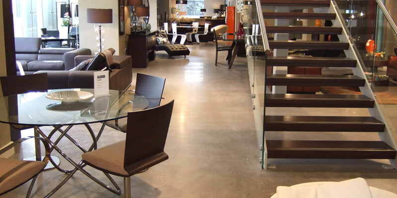 Roche-Bobois-furniture-Sandyford-polished-concrete-floor
