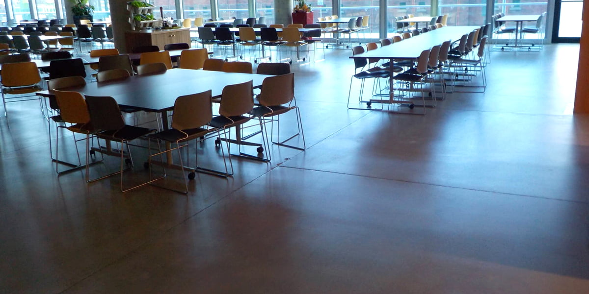 Bronze finish polished concrete floor P Mac