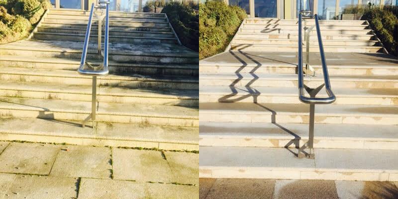 Flamed granite steps at Profile Park P Mac Dublin