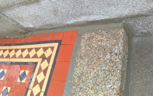 Granite step repair repointing P Mac Dublin