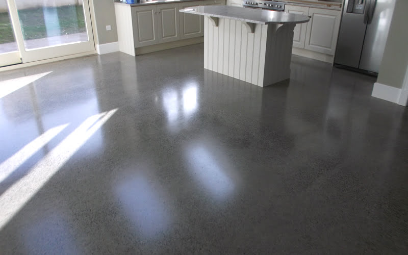 Polished contrete floor platinum finish P Mac Dublin