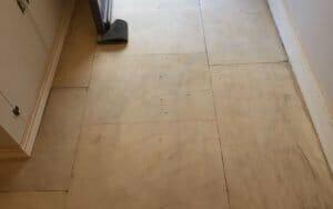 Portland stone floor after inital grind restoration P Mac Dublin
