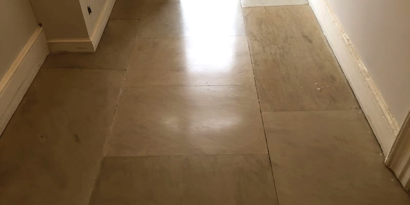 Portland stone floor restored original condition P Mac Dublin