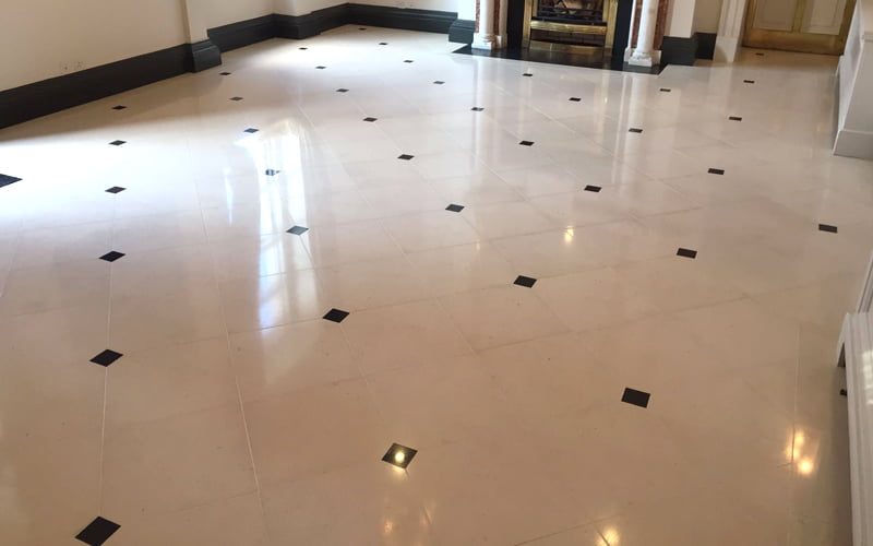 P Mac Dublin marble floor stripped cleaned polished and sealed