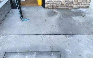 External concrete powerfloated