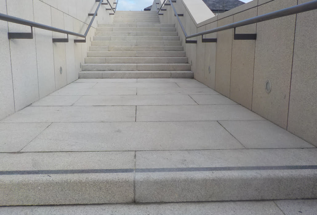 Dún Laoghaire library granite steps