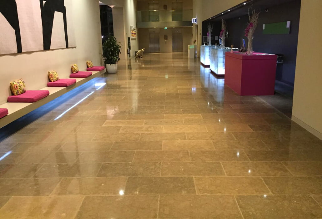 Polished floors - Gibson Hotel