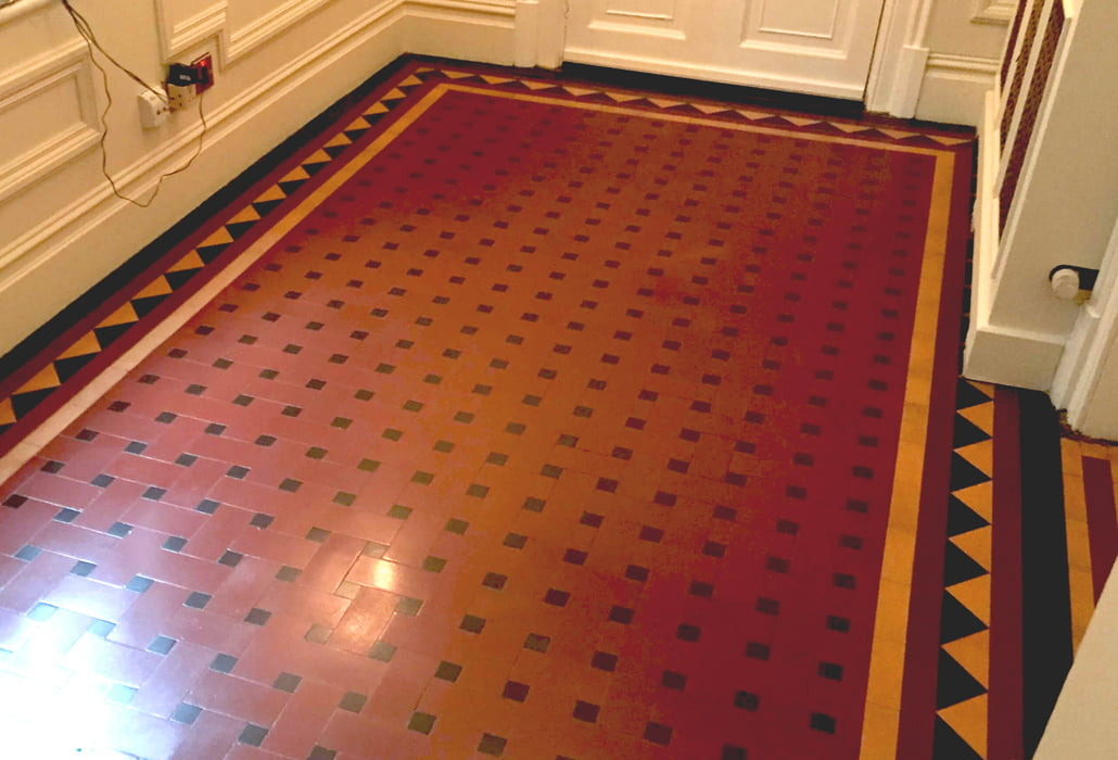 Victorian quarry tiles returned to their original splendour