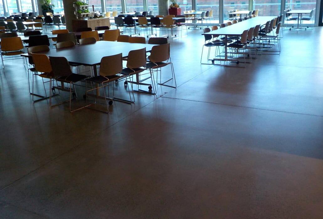 Bronze finish polished concrete floor