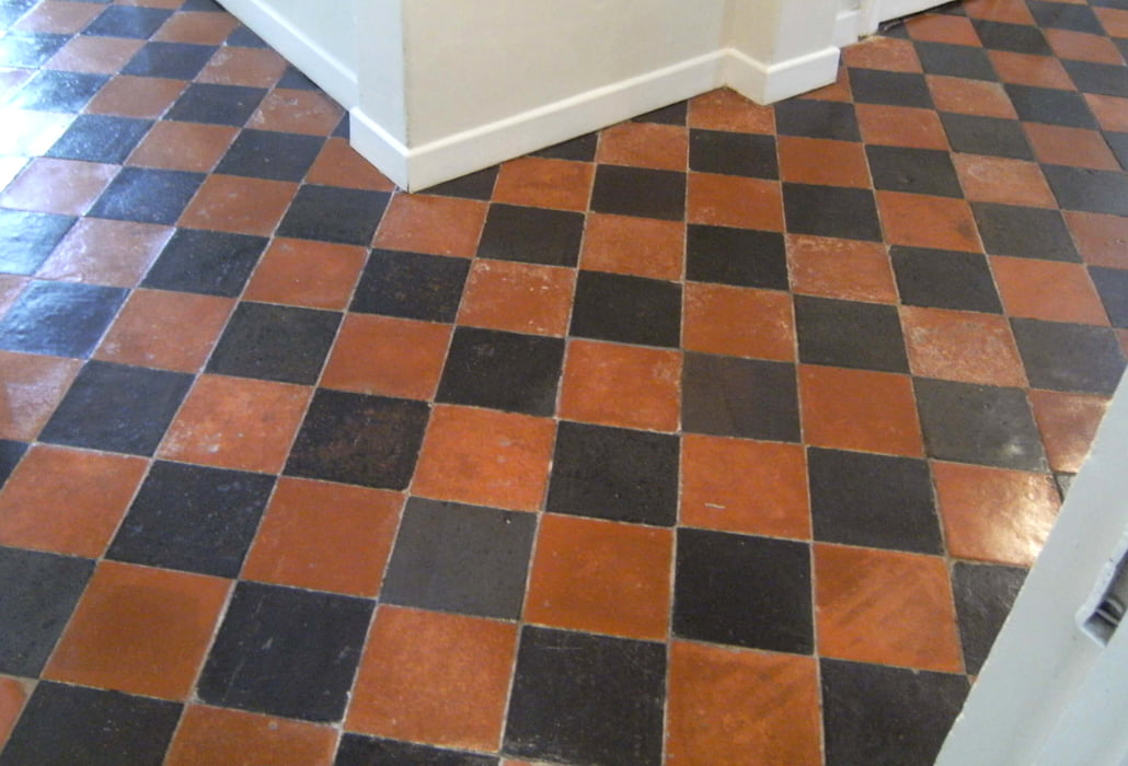 Cleaned and sealed quarry tiles