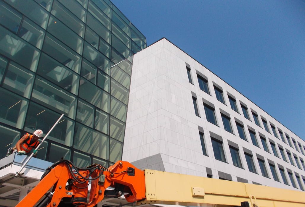 Stone facade, cleaned and sealed - UCD