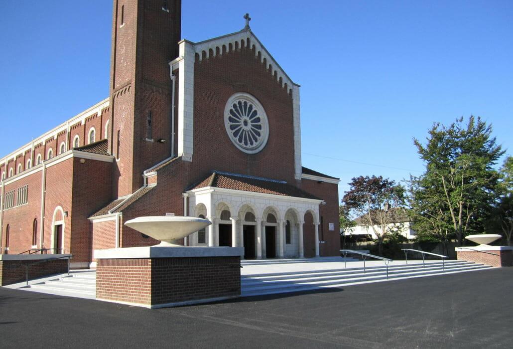Facade cleaning - St Pius X Church