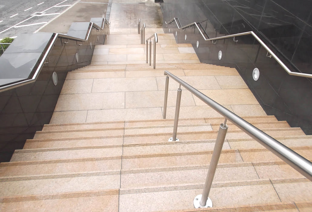 Granite steps cleaned Beacon South Quater