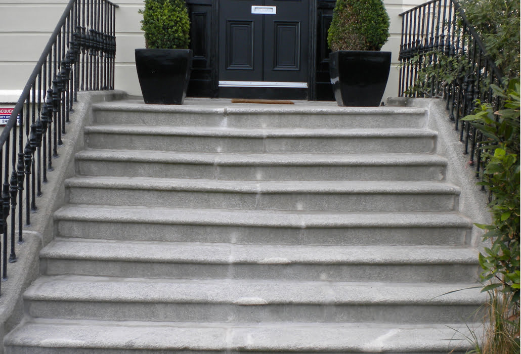 Granite steps repointed and cleaned