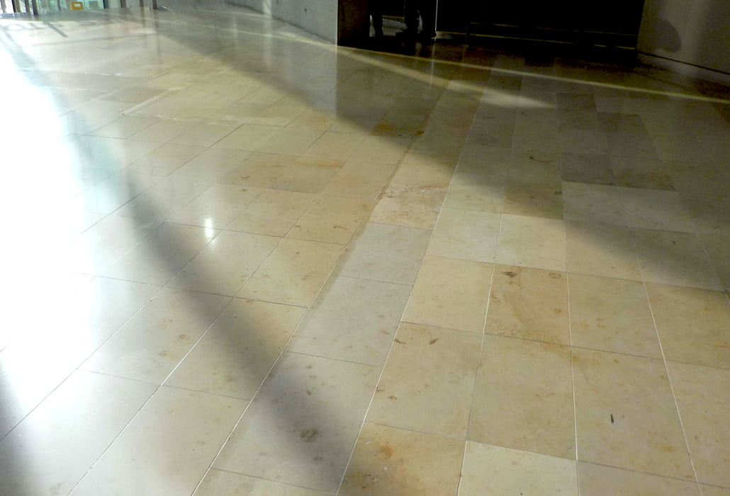Limestone floor, cleaned and sealed - Dunnes Stores HQ