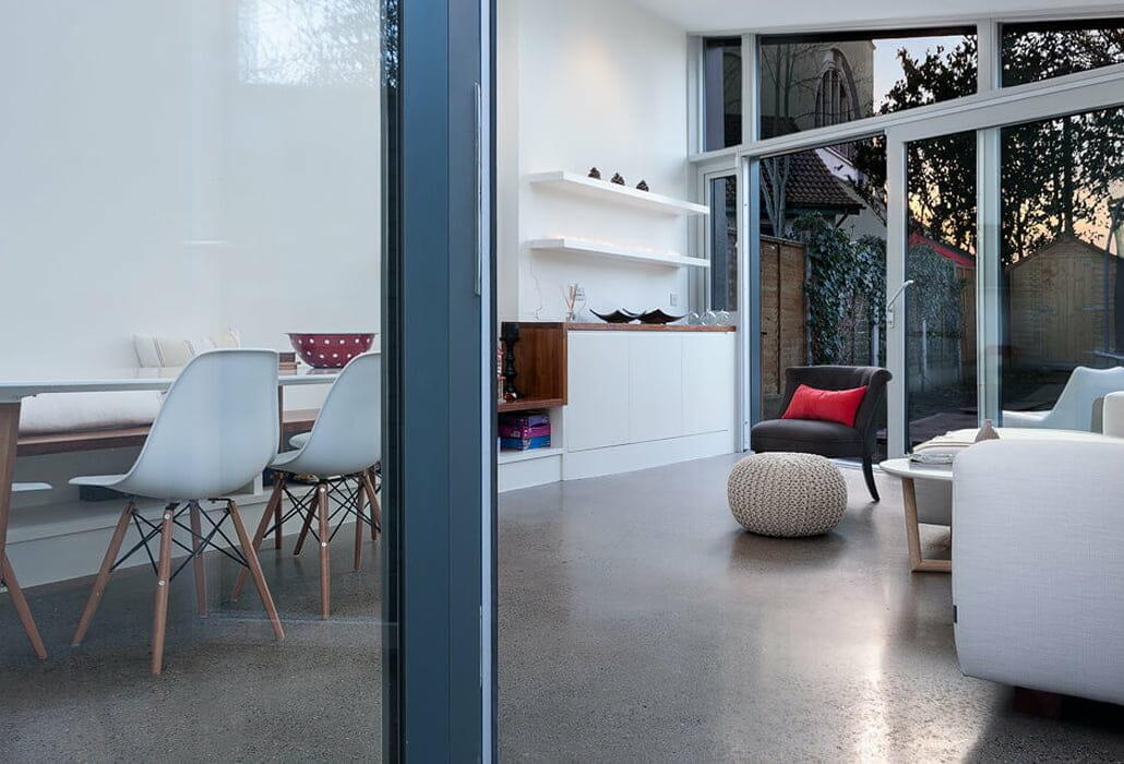 Polished concrete floor - platinum finish