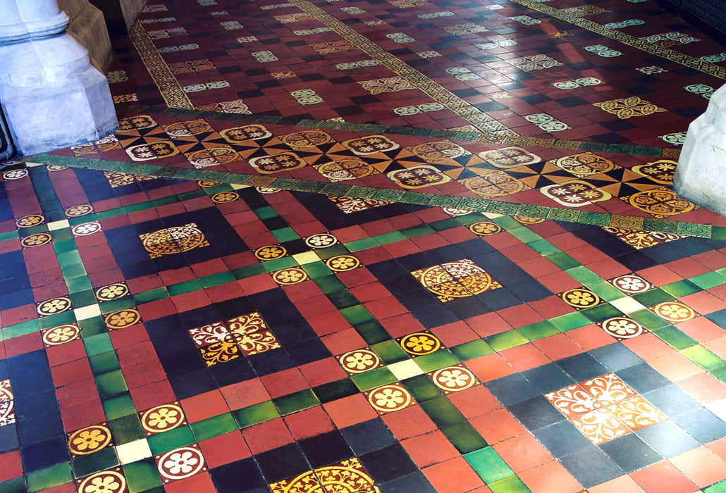Restored tiles - Christchurch Cathedral
