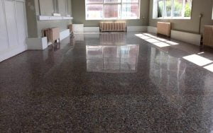 highly polished terrazzo floor in Portlaiose Hostpital