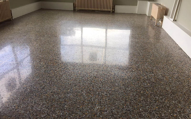 restoring terrazzo floor highly polished terrazzo floor in portlaiose hostpital the finished floor in portlaiose hospital
