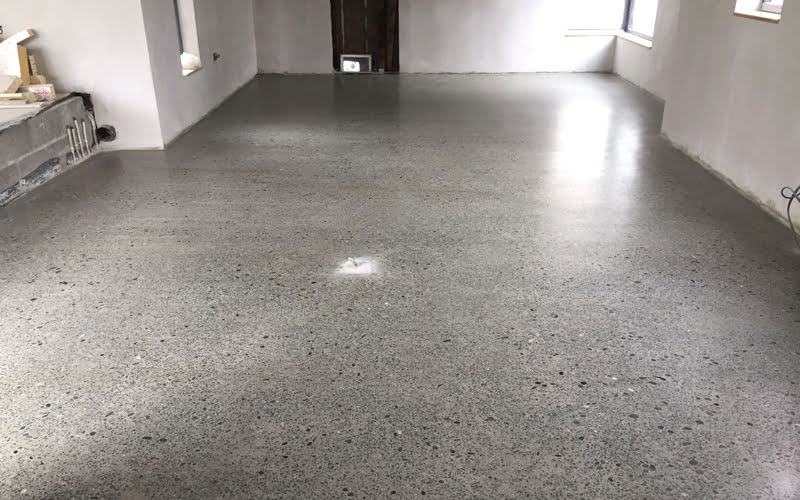 Perfectly Poured Concrete Slab Suitable For Polishing Polished To A Platinum Finish