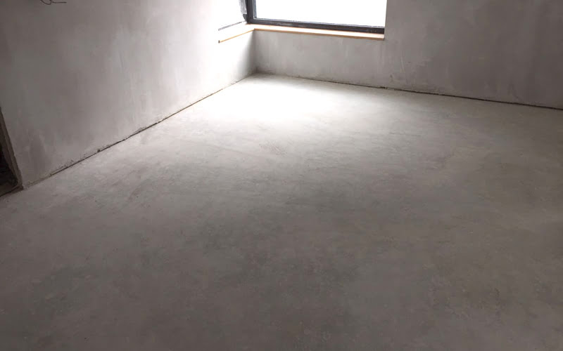 Perfectly Poured Concrete Slab Suitable For Polishing