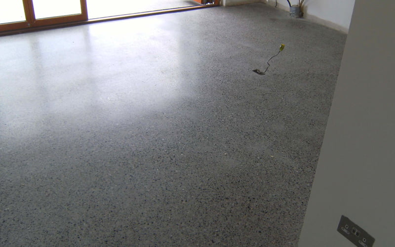 Achieving different finishes with polished concrete p mac for Residential concrete floor wax
