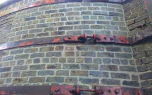 Powers' whiskey stills restoration project repointed brickwork