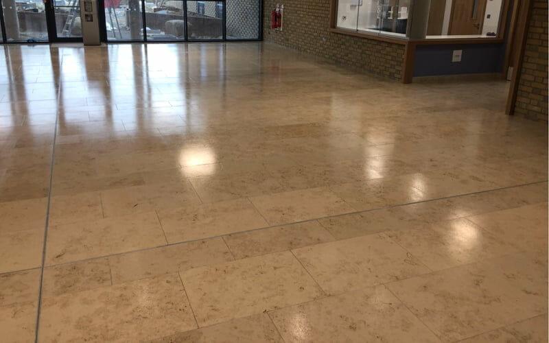 Applying An Anti Slip Coating To A Jura Limestone Floor P Mac