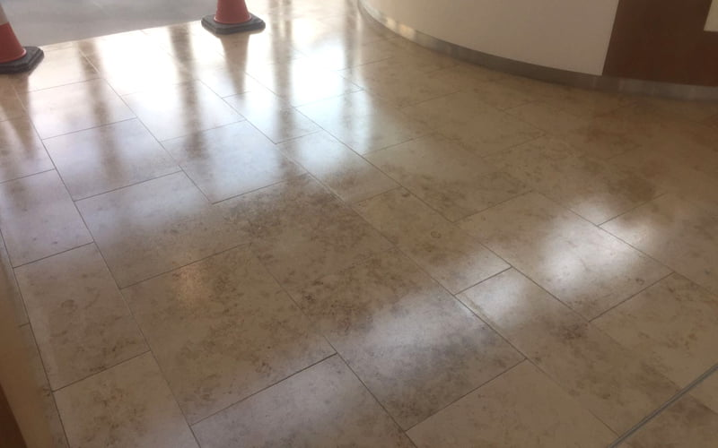 Applying An Antislip Coating To A Jura Limestone Floor P Mac - Anti slip coating for ceramic floor tiles