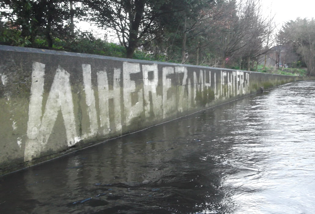Graffiti on the River Dodder