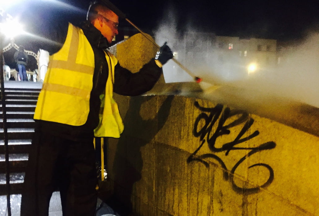 Graffiti removal Ha'penny Bridge Dublin