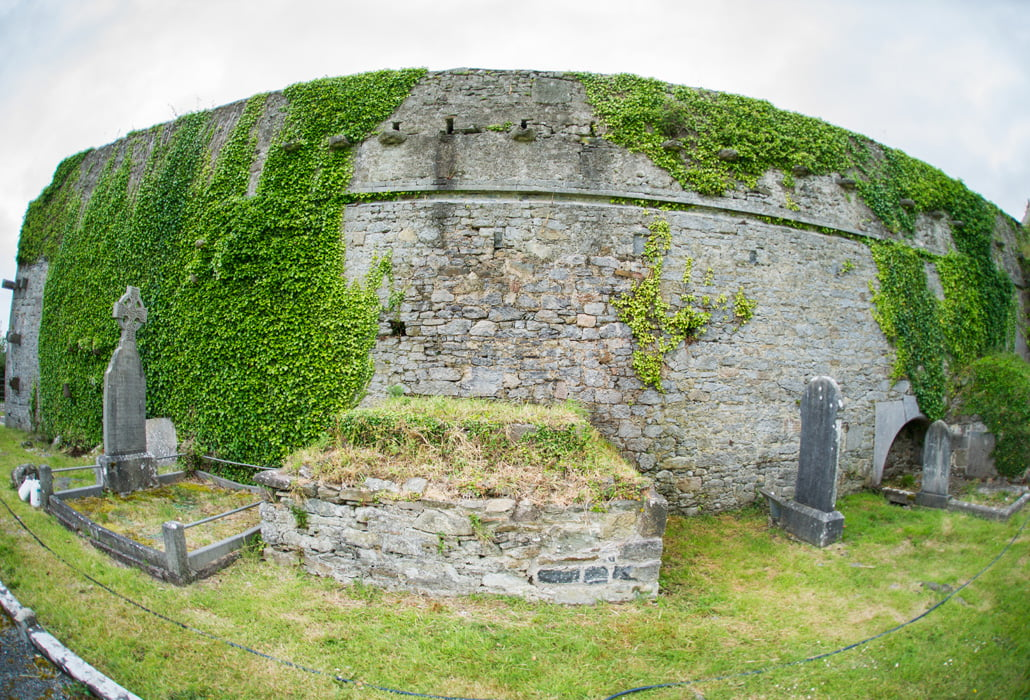 Graffiti removed from Kilcolman Abbey