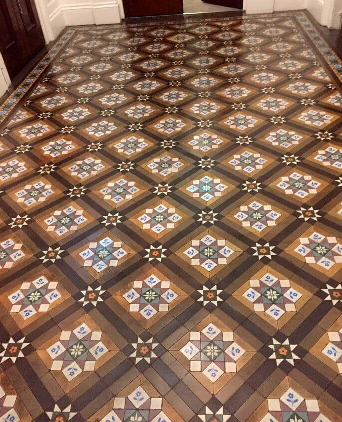 Vinyl Flooring Contractors Northern Ireland: Restored Encaustic Tile Floor At STW Architects Dublin