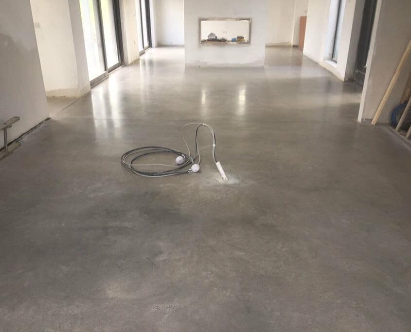 Bronze Gold Finish Polished concrete floor