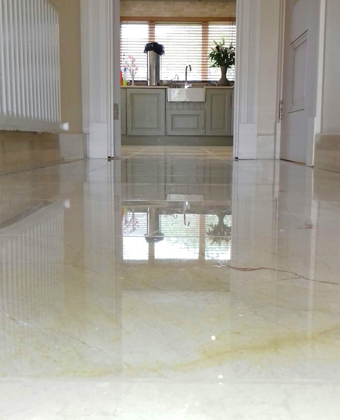 Marble floors restored - residential client
