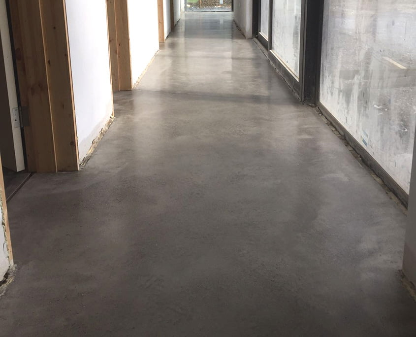 Polished concrete floor Bronze Gold Finish residential