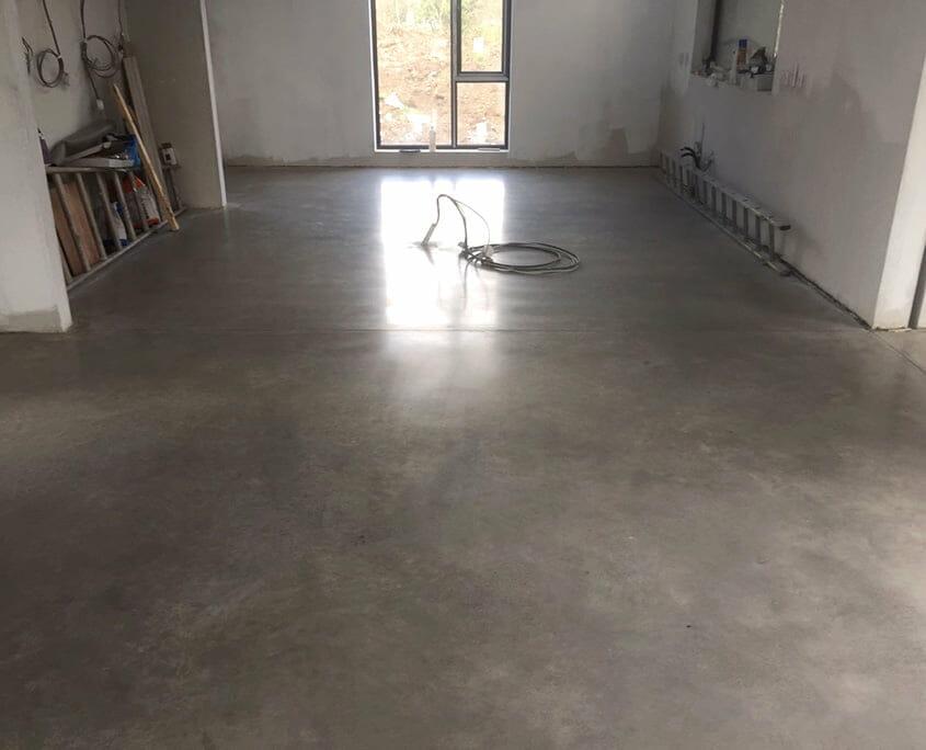 Polished concrete floor Bronze Gold Finish