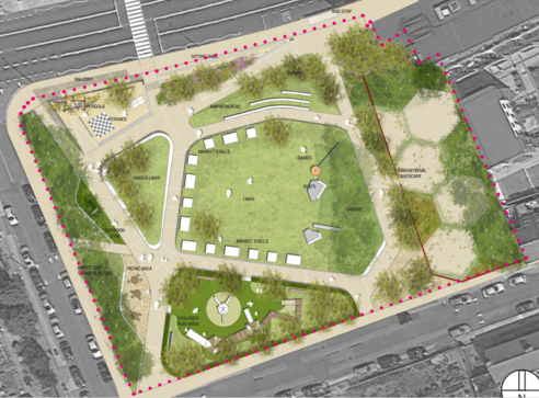 plan of Weaver Park project - Dublin City Council