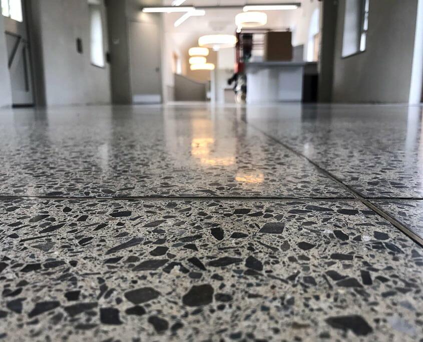 Polished concrete - platinum finish - closeup - P Mac