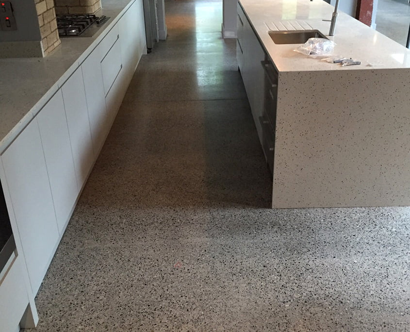 Polished concrete - platinum finish - kitchen - P Mac
