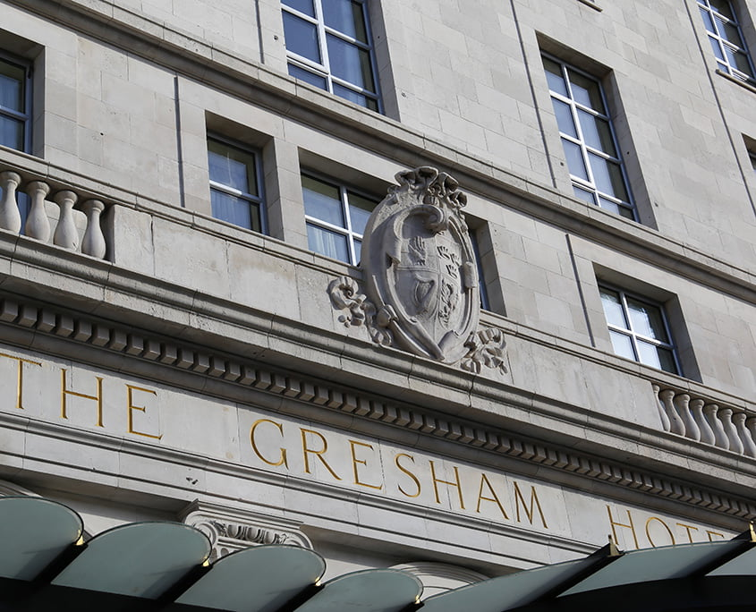 Gresham Hotel facade cleaning after P Mac