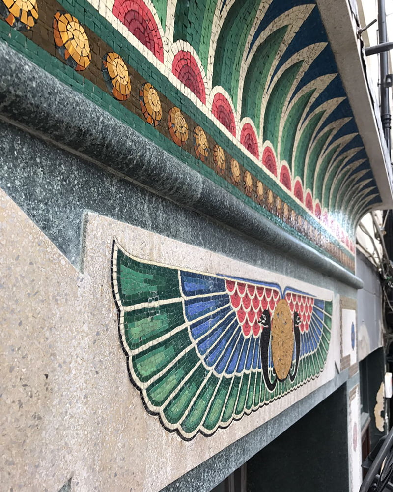 Detailed mosaic restoration at Bewleys