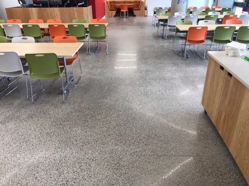 Polished concrete floors are becoming the number one choice