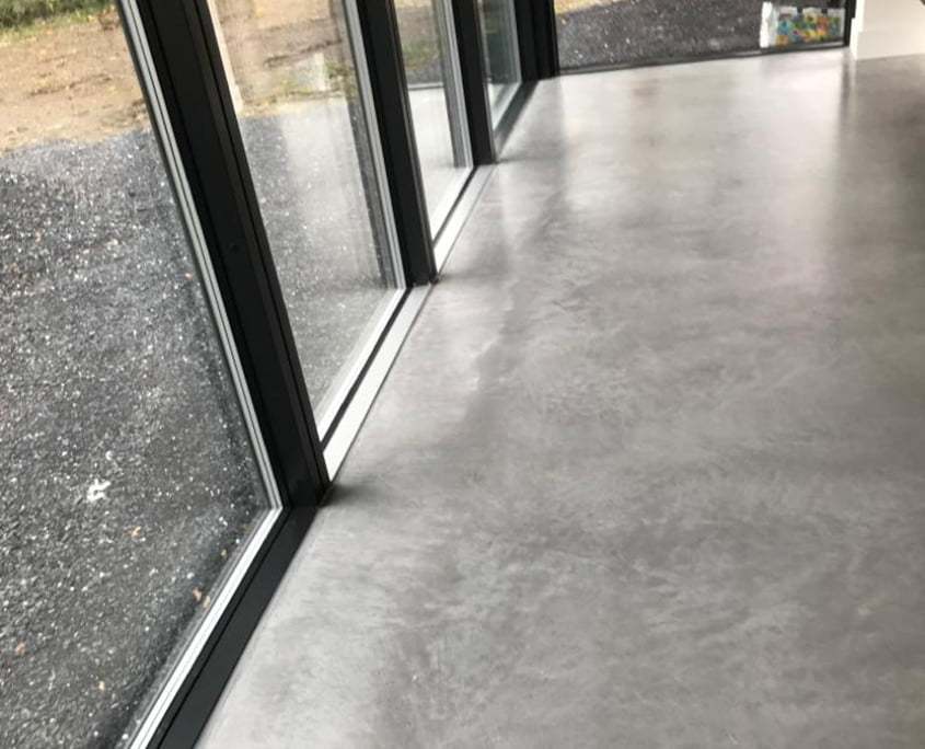 Bronze Finish residential floor - P Mac Concrete Polishing