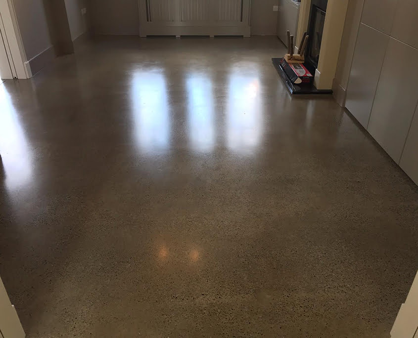 Gold finish - P Mac Concrete Polishing