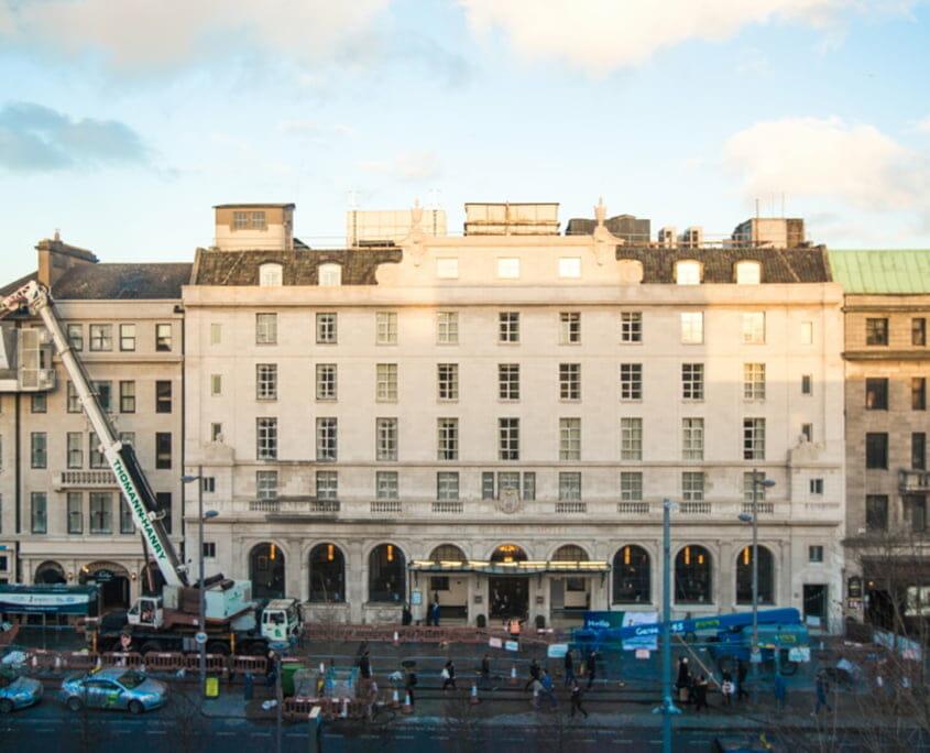 Gresham Hotel front facade - P Mac Heritage Contractors