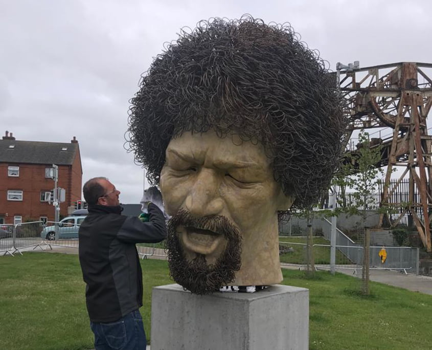 Luke Kelly Statue graffiti removal - P Mac Heritage Contractors